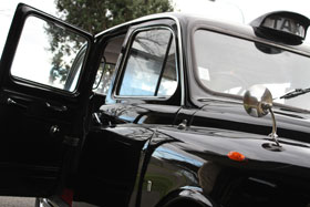 black London taxi cab